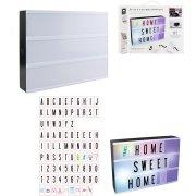 Boite Lumineuse Couleurs Light Box 85 Lettres (30 cm)