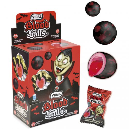 1 Bubble-gum Blood Balls