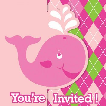 8 Invitations Ocean Rose