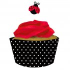 Kit 12 Wrappers et D�co Cupcakes Coccinelle