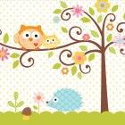 16 Serviettes L'arbre du bonheur