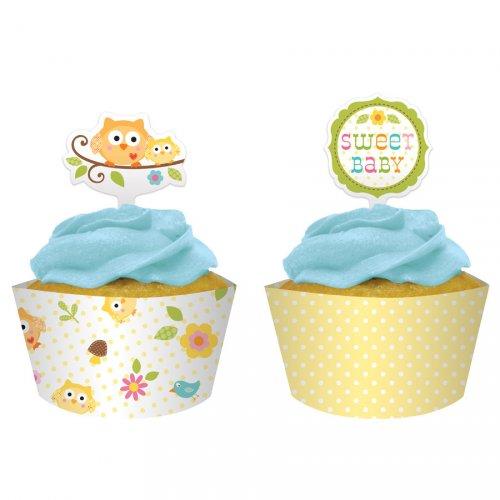 Kit 12 Wrappers et Déco Cupcakes L arbre du bonheur