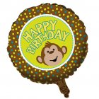 Ballon Mylar Ouistiti Happy Birthday