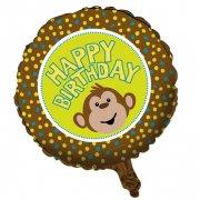 Ballon Mylar Ouistiti Happy Birthday