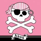16 Serviettes Pirate Rebel Rose