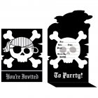 8 Invitations Pirate Rebel Noir