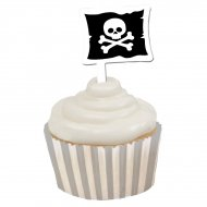 Kit 12 Wrappers et Déco Cupcakes Pirate Rebel