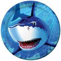 Contient : 1 x 8 Assiettes Requin