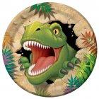 8 Assiettes Dino Relief