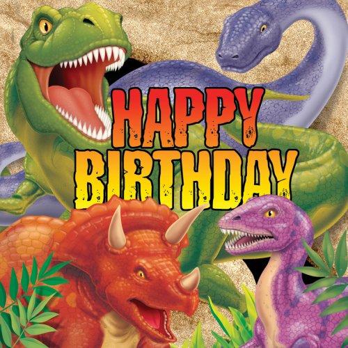 16 Serviettes Dino Relief