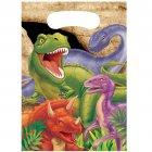 8 Pochettes à cadeaux Dino Relief