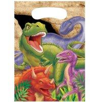 Contient : 1 x 8 Pochettes à cadeaux Dino Relief