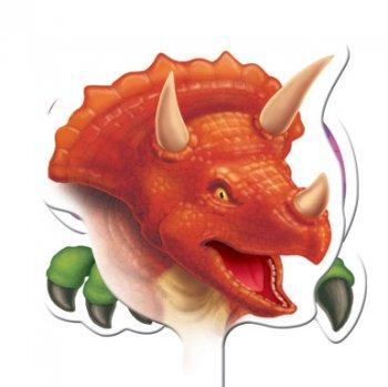 12 Pics décoratifs pour cupcakes Dino Relief