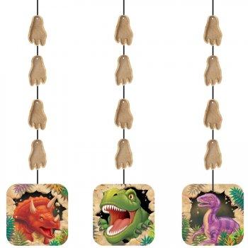 3 décorations à suspendre Dino Relief