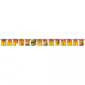 Guirlande Lettres Happy Birthday Dino Relief