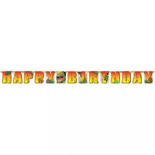 Guirlande Lettres Happy Birthday Dino Relief