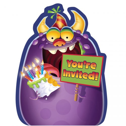 8 Invitations Monster Mania