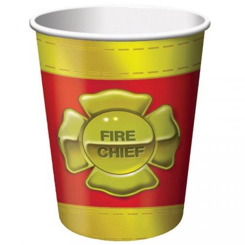 8 Gobelets Pompier