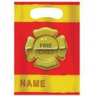 8 Pochettes cadeaux Pompier