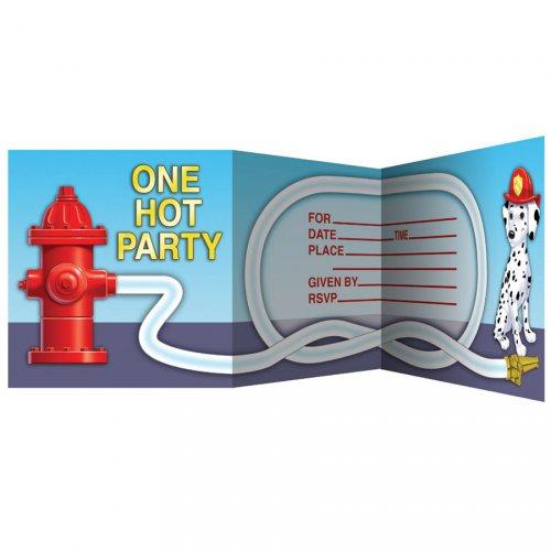 8 Invitations Pompier
