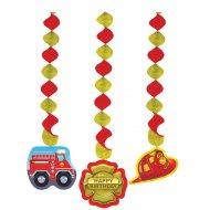 3 D�corations � suspendre Pompier