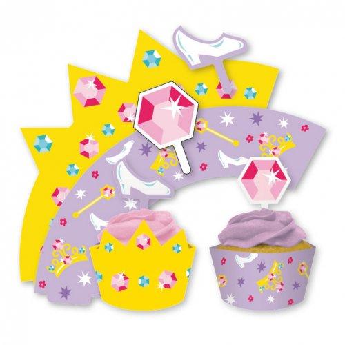 Kit 12 Wrappers et Déco Cupcakes Conte de fées
