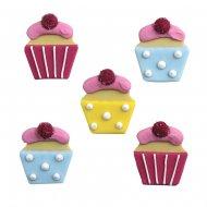 5 cupcakes en sucre