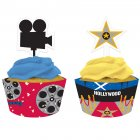 Kit 12 Wrappers et Déco Cupcakes Hollywood Stars