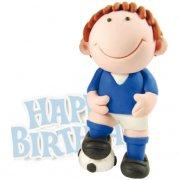 Footballeur Bleu