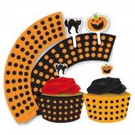 Kit 12 Wrappers et Déco Cupcakes Halloween
