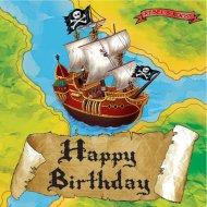 16 Serviettes Bâteau Pirate
