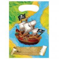 8 Pochettes cadeaux Bâteau Pirate