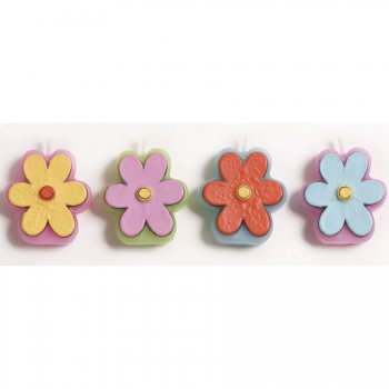 4 Bougies Fleurs