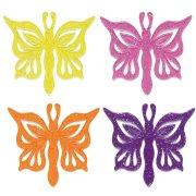6 Pics en plastique Papillons