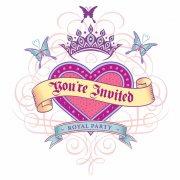 8 Invitations Princess Tatoo