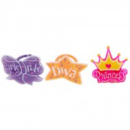 6 Bagues Princess Tatoo