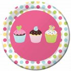 8 Petites assiettes Cupcake Friandise