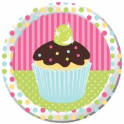 8 Assiettes Cupcake Friandise