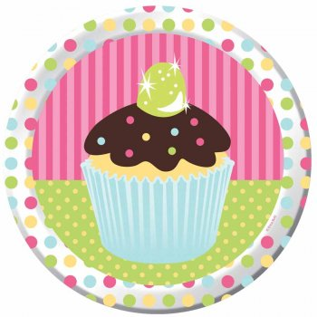 8 Assiettes Cupcake Friandise