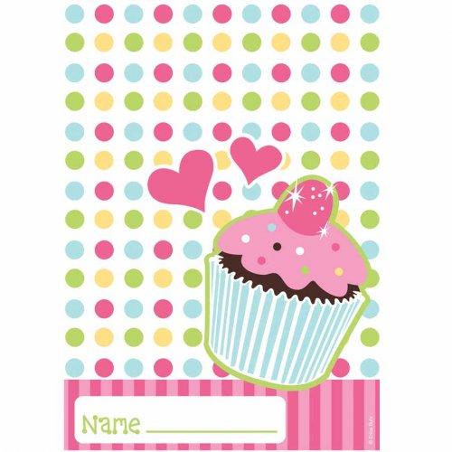 8 Pochettes à cadeaux  Cupcake Friandise