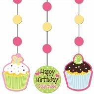 3 D�corations � suspendre  Cupcake Friandise