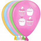 6 Ballons Cupcake Friandise