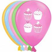 6 Ballons Cupcake Friandise