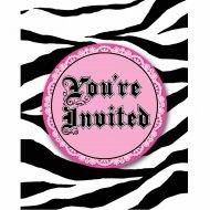 8 Invitations Girly Fashion