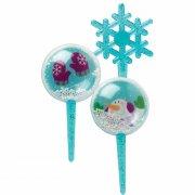 4 Pics Boules à Neige 3D Bleu