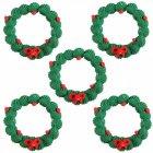 5 couronnes de Noël en sucre