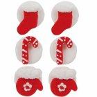 6 D�corations de No�l Rouge et Blanc