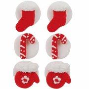 6 Décorations de Noël Rouge et Blanc