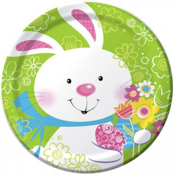 8 Petites Assiettes Happy Bunny