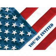 8 Invitations American party